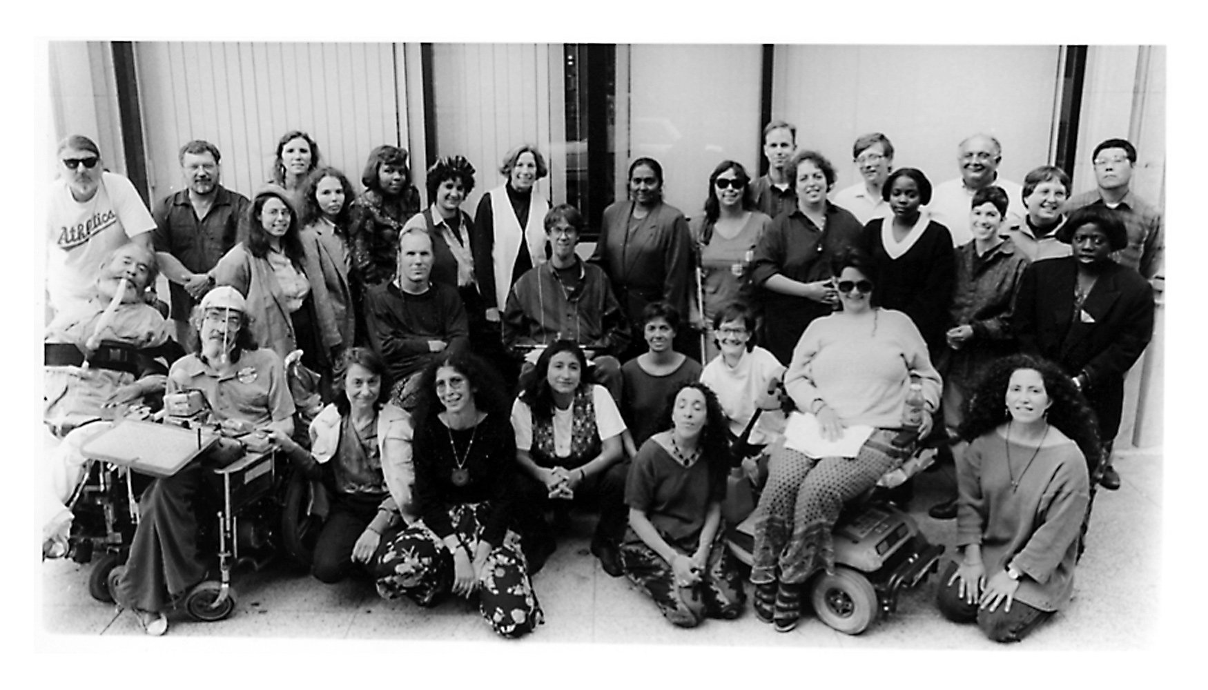 Group photo of disability rights activists